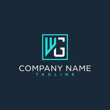 WG,GW,initial logo design inspiration