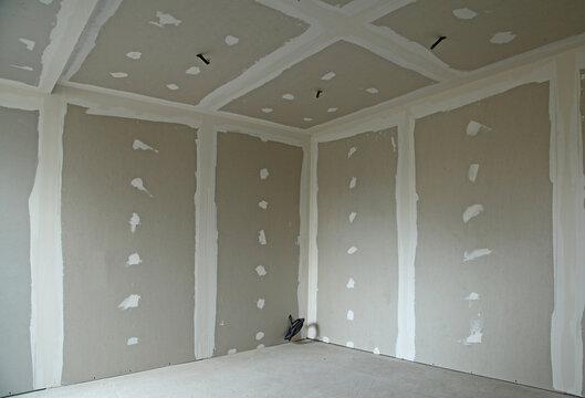 Rénovation d'une pièce avec des plaques de plâtre
