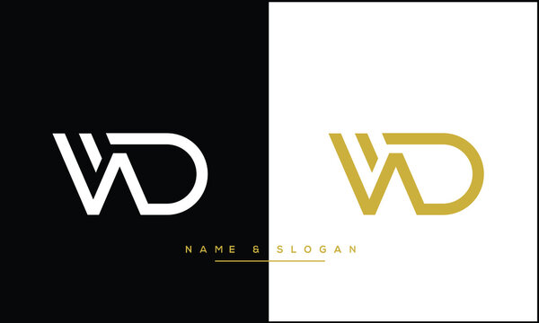 WD ,DW Abstract Letters Logo Monogram