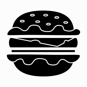 Burger icon  hamburger  graphic design isolated vector illustration