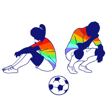 LGBTQ athletics. LGBT community competitions. The symbol of equality and struggle in minority community sports athletics running competition. Representation