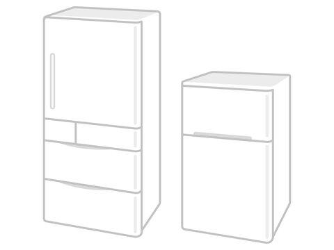 白色の冷蔵庫