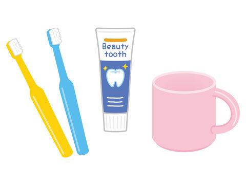 歯ブラシ 歯磨き粉 コップ