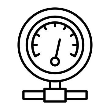 Liquid or gas Flow measurment device concept, ac pressure gauge Vector Icon Design, Motor Vehicle Service and automobile repair shop Symbol, Lorry spare parts Sign, auto mechanic stock illustration