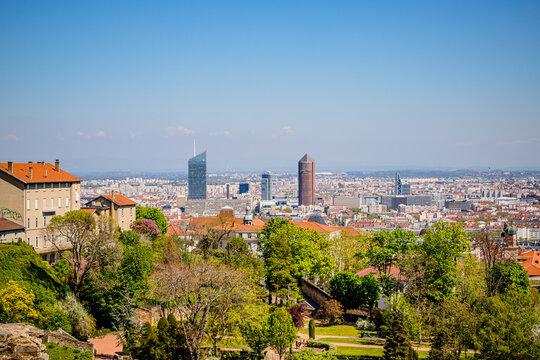 Vue de Lyon depuis Fourvière