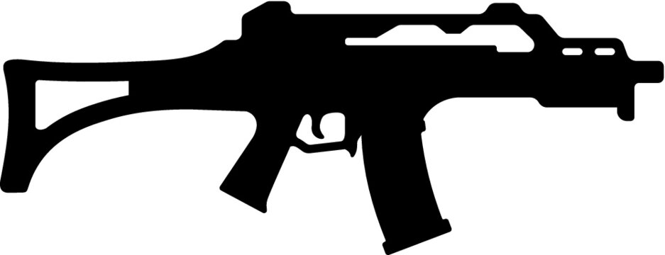 Vector illustration of the machine gun