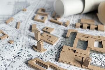 Makieta urbanistyczna, projekt urbanistyczny, zabudowa miasta