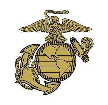 United State Marine Corps Eagle Globe and Anchor ega design illustration vector eps format , suitable for your design needs, logo, illustration, animation, etc.