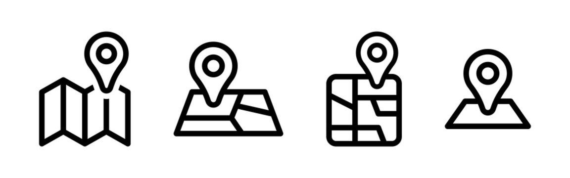 Maps location marker vector icon set
