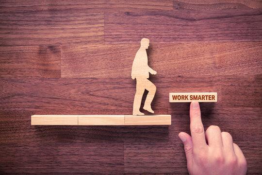 Work smarter motivation concept