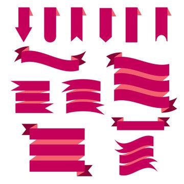 Banners icon set flat design illustration
