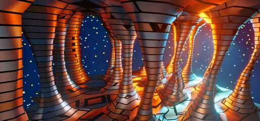 3d rendering mystical art universe landscape