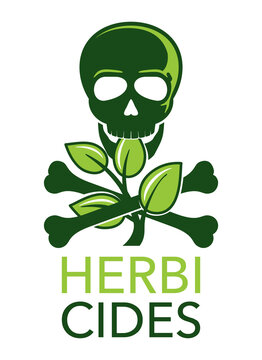 Herbicides - weedkiller substance isolated icon