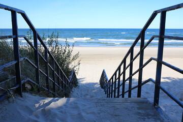 Morze bałtyckie schody Plaża