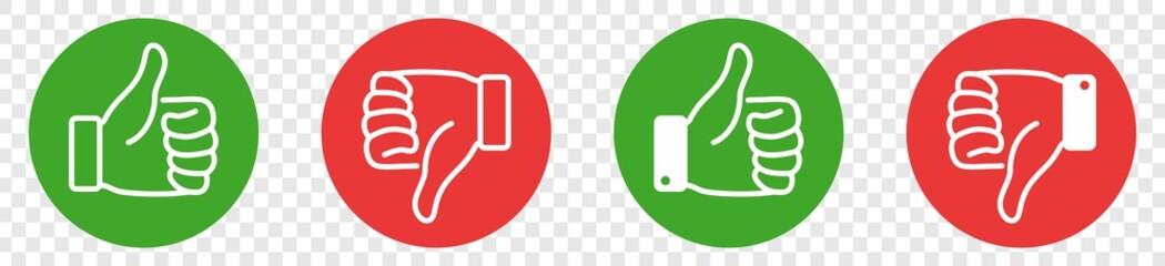thumb up and thumb down Icon, like sign, dislike symbol, like sign, like symbol