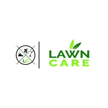 illustration, vector, graphic, design lawn care logo