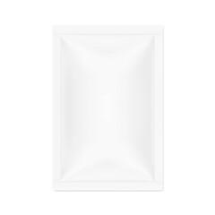 Fototapeta Blank sachet packaging mockup for food, cosmetic and hygien. Vector illustration on white background. Ready for your design. EPS10.