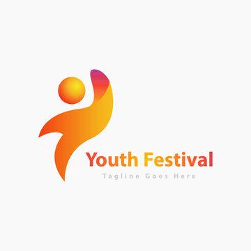 youth human logo partnership icon