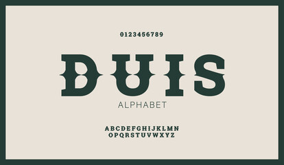 Obraz Modern stylized flat alphabet fonts in west retro style. Creative vintage font typeface for labels, flyers, headlines, posters or whiskey brand. - fototapety do salonu