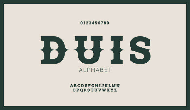 Modern stylized flat alphabet fonts in west retro style. Creative vintage font typeface for labels, flyers, headlines, posters or whiskey brand.