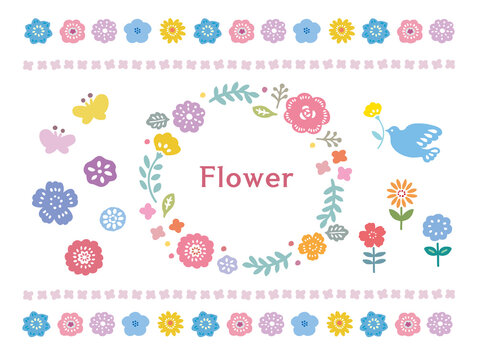 花フレームセット