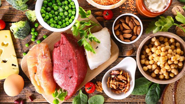health food selection- balanced diet food