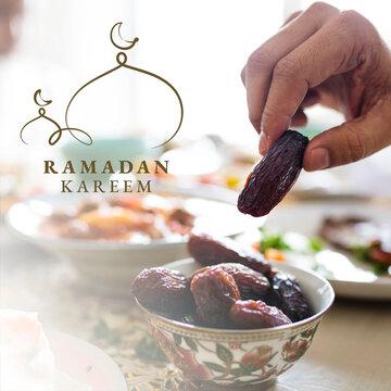 Ramadan Kareem social media post with greeting
