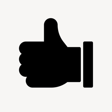 Thumbs up icon flat graphic