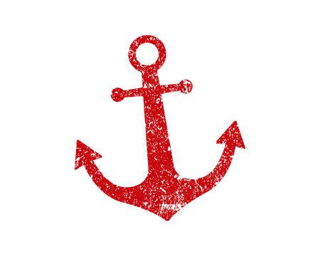 Anchor icon shape symbol. Ship maritime logo sign silhouette. Vector illustration image. Isolated on white background.