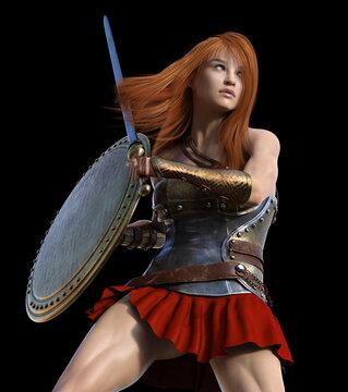 Battle Ready - Beautiful Woman Centurion
