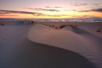 Wydmy na wybrzeżu Morza Bałtyckiego