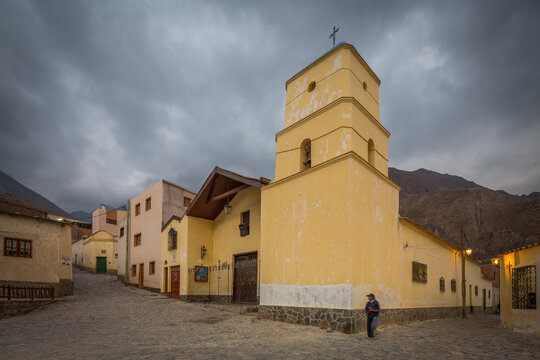 The church of the small historic village of Iruya in northwest Argentina