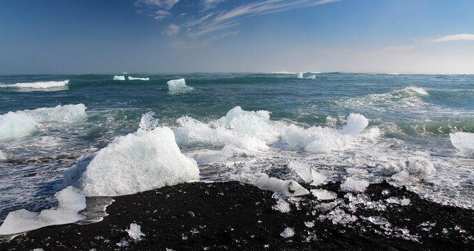 plage de diamants, plage noire, plage islandaise, Islande, plage , plage islandaise, diamants beach, diamants, glace, iceberg, jogularson, icelandic beach, plage sable noir, iceland,