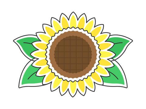 向日葵の花のイラスト