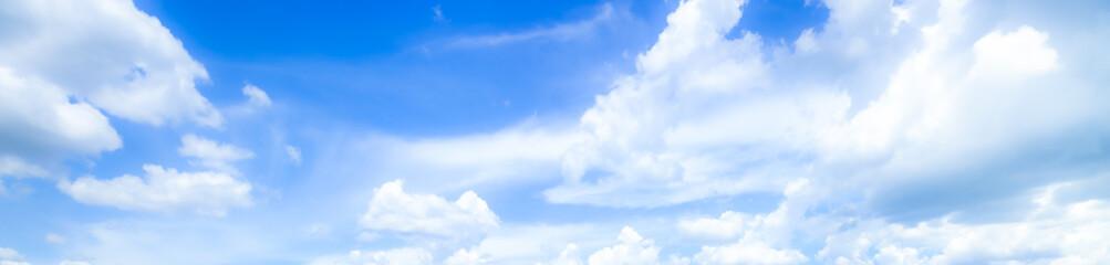 Fototapeta blue sky background with tiny clouds. panorama,Blue sky background with clouds