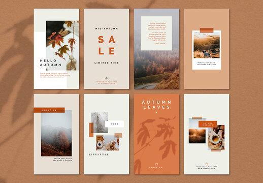 Autumn Color Tone Social Media Blog Layout