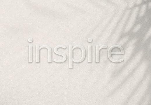 Word Inspire Embossed Typography Design