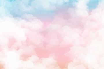 Obraz Hand painted watercolor pastel sky cloud background - fototapety do salonu