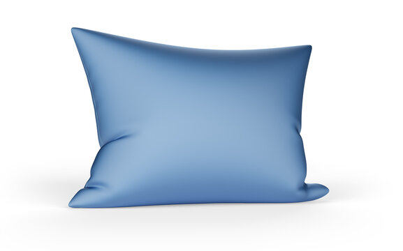soft feather pillow isolated on white background