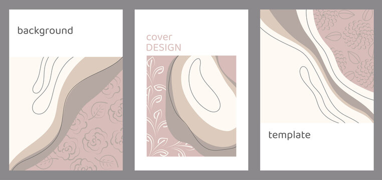 Set of vector background templates. Design of covers and postcards, social media layouts or other media. Flat illustration