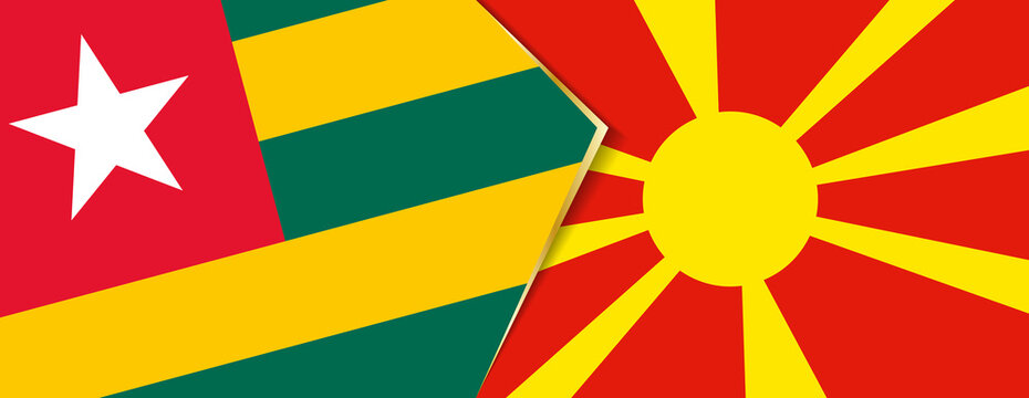 Togo and Macedonia flags, two vector flags.