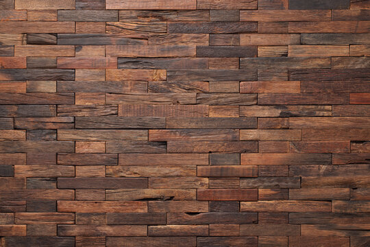 old wood texture, wall panel made of boards.