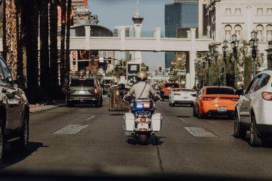 Amerika | Las Vegas Polizist auf Motorrad