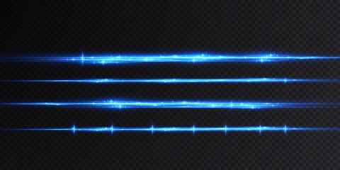 Fototapeta Introducing the effects of vector neon light sets. Glowing blue abstract line. Suitable for transparent lens flare effect. Bright light can be used for game design, banners, posters.