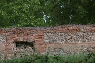 Fototapeta ruiny budynek cegła aranjuez stare architektura