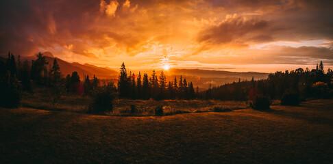 Fototapeta Sundown, Zachód, Tatry 2020 obraz