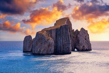 High cliffs of Mediterranean coast,