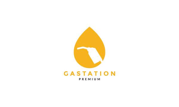 drop water gas station logo symbol icon vector graphic design illustration