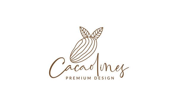 chocolate beans lines art  logo vector symbol icon design graphic illustration