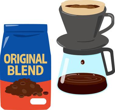 市販の袋入りブレンドコーヒー